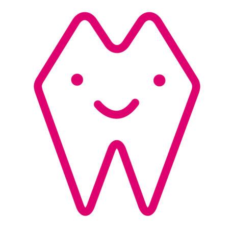 Übergangssmiley bis Bild_lachender zahn icon pink
